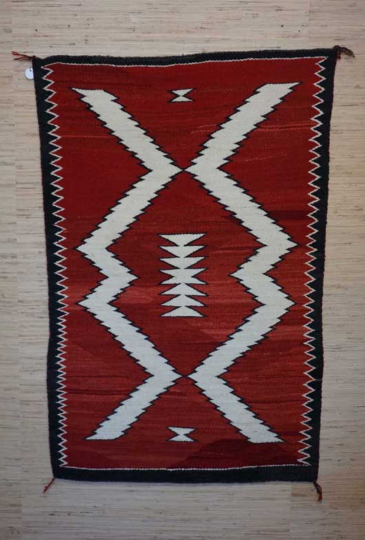 Navajo Double Saddle Blanket 837 Charley S Navajo Rugs