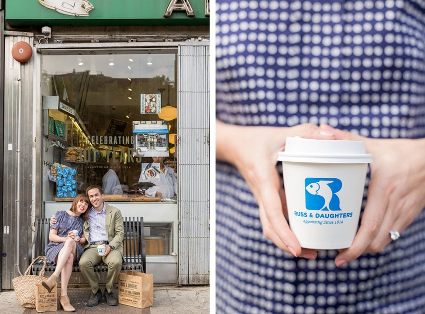 Russ & Daughters Shop, Engagement Photography