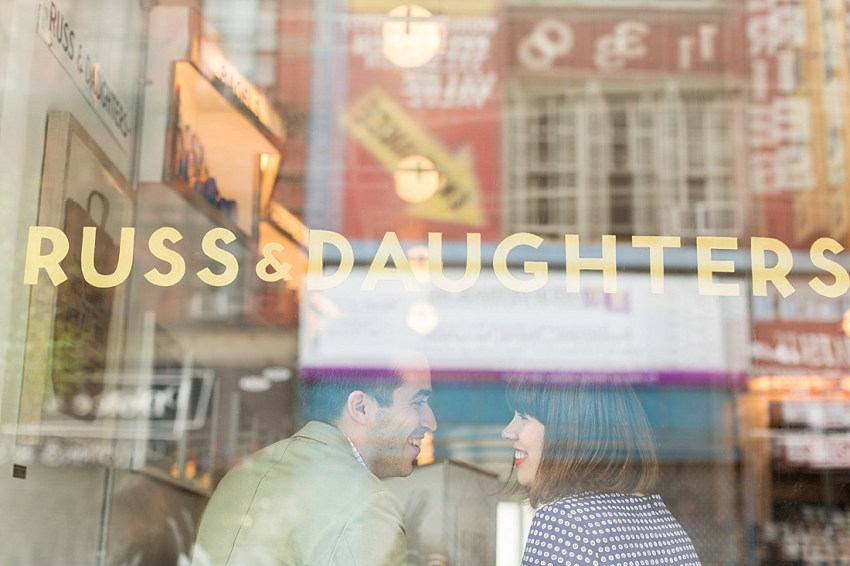 Russ & Daughters, New York Engagement Photographer