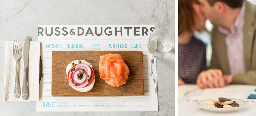 Love at Russ & Daughters Cafe, New York Wedding Photographer