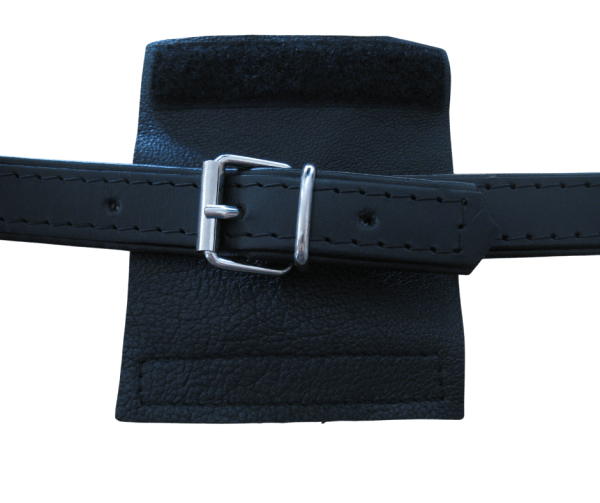 Leather accordion buckle cover