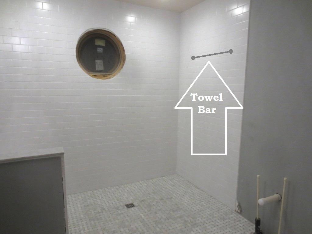 hanging a towel bar on tile let s