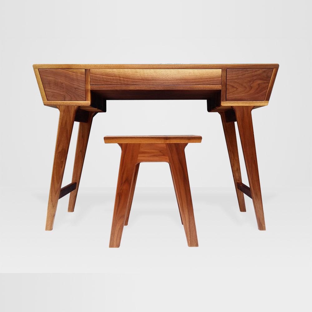 charlie-caffyn-designs-walnut-dressing-table-stool