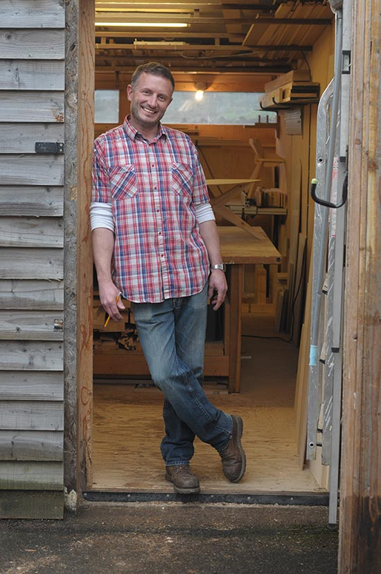 Contact Charlie Caffyn a Modern British Furniture Maker in his wiltshire workshop
