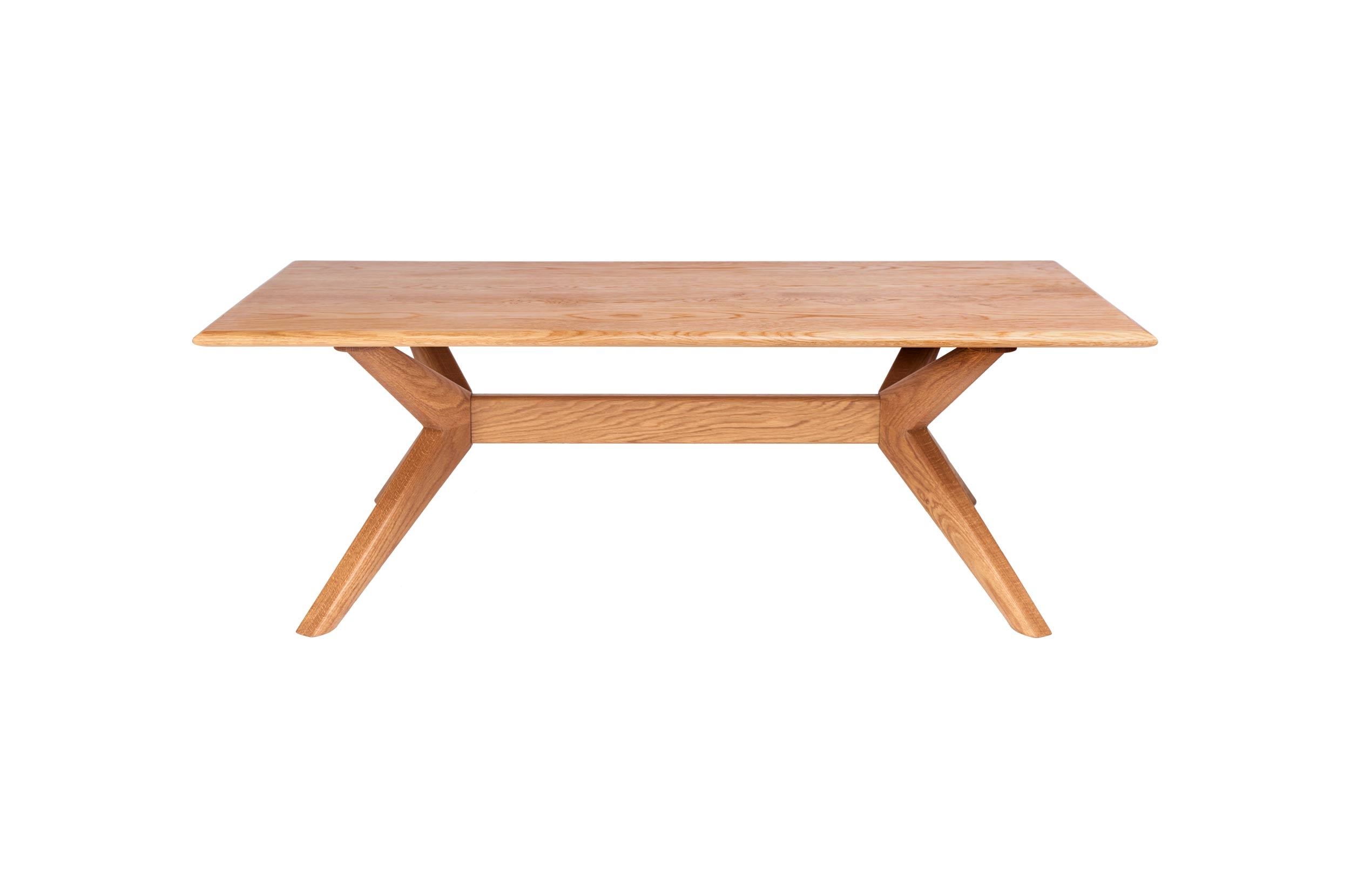 Chantry rectangular coffee table in oak by Charlie Caffyn modern british furniture designer maker