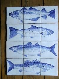 delft tiles fish charlie allen | charlie allen. ceramic arts.