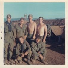Bottom L-R; Sgt Vickery, Darrell Delome Top L-R; Cox, unknown, Dick Snow, Ed Moylan