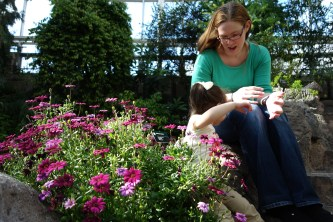 Mother and daughter in the Temperate House