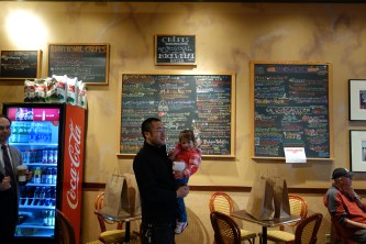 The menu at the City Coffeehouse and Creperie