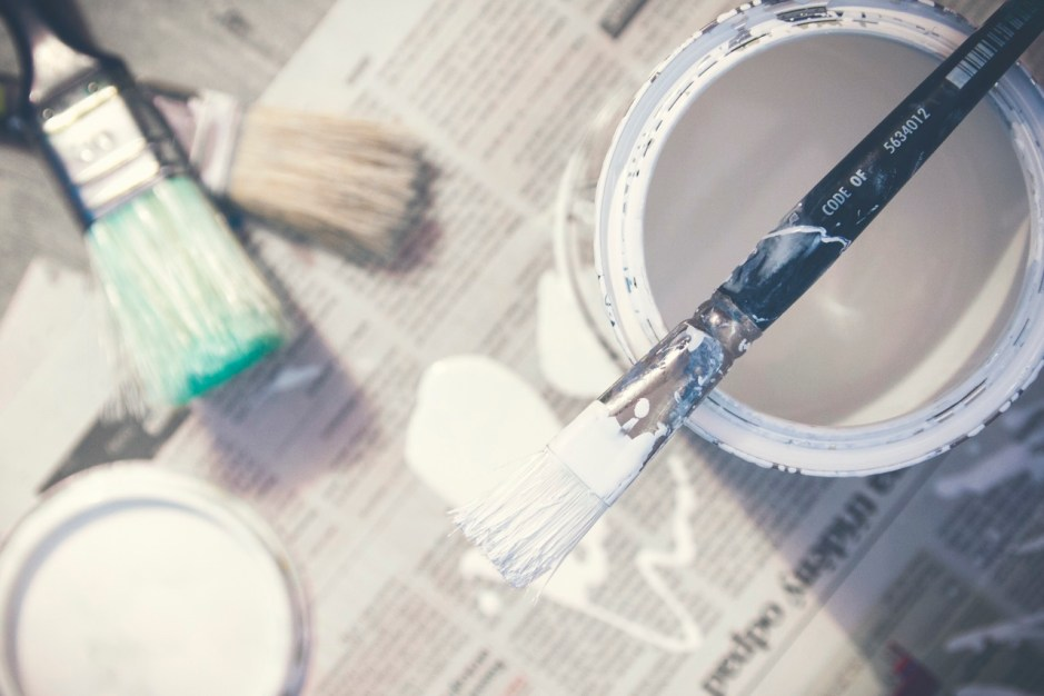white paint photography