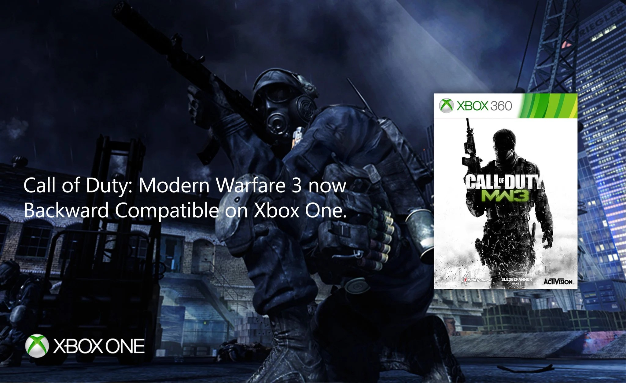 Call Of Duty Modern Warfare 3 Now Backwards Compatible On Xbox One Charlie INTEL