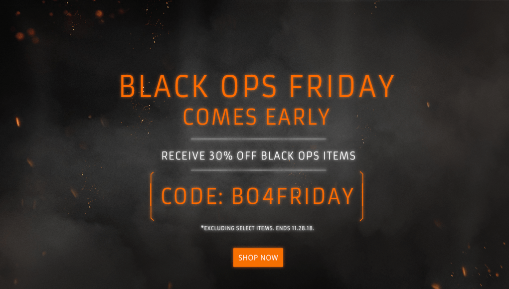Black Ops Friday 30 Off Black Ops Merchandise Charlie
