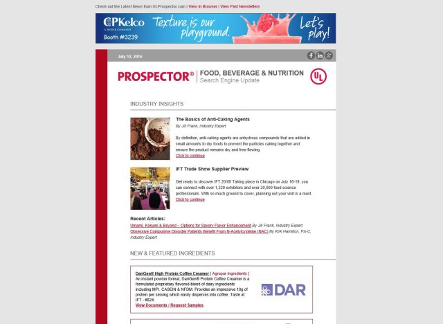 Prospector Targeted email Templates (2016)