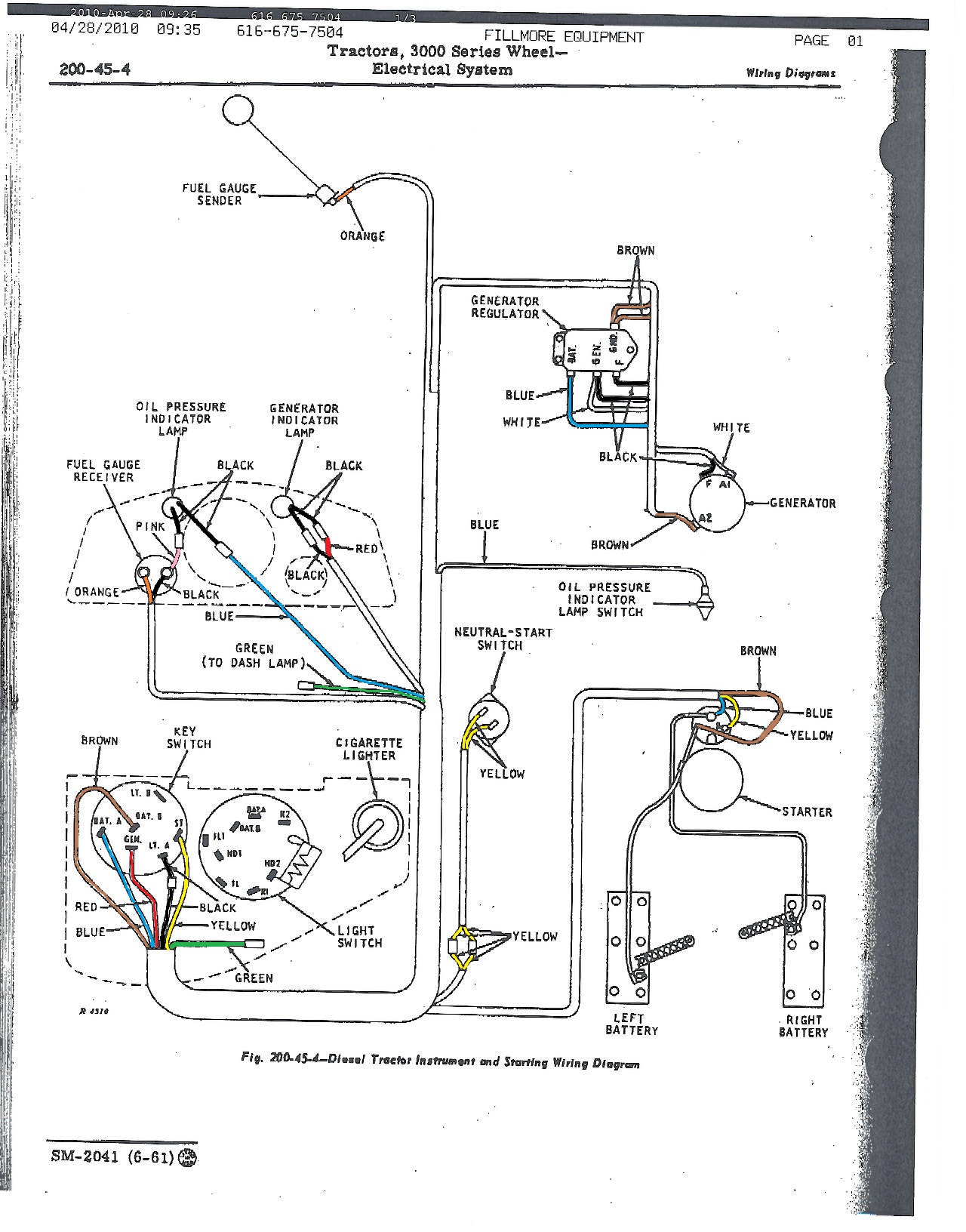 hight resolution of wiring diagram 3010 john deere tractor