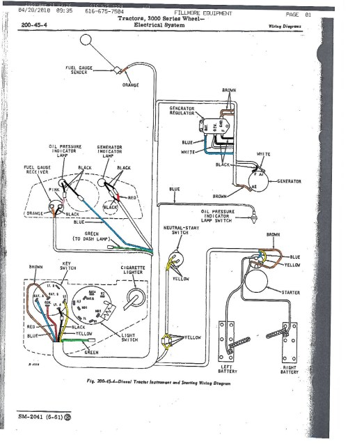 small resolution of john deere 3010 wiring diagram