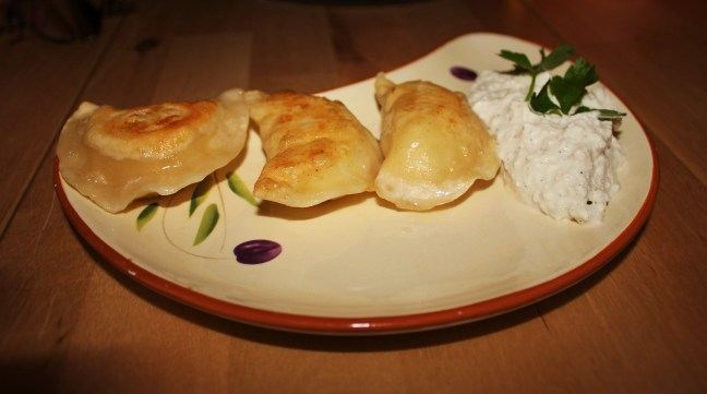 Vegetarian in Poland pierogi