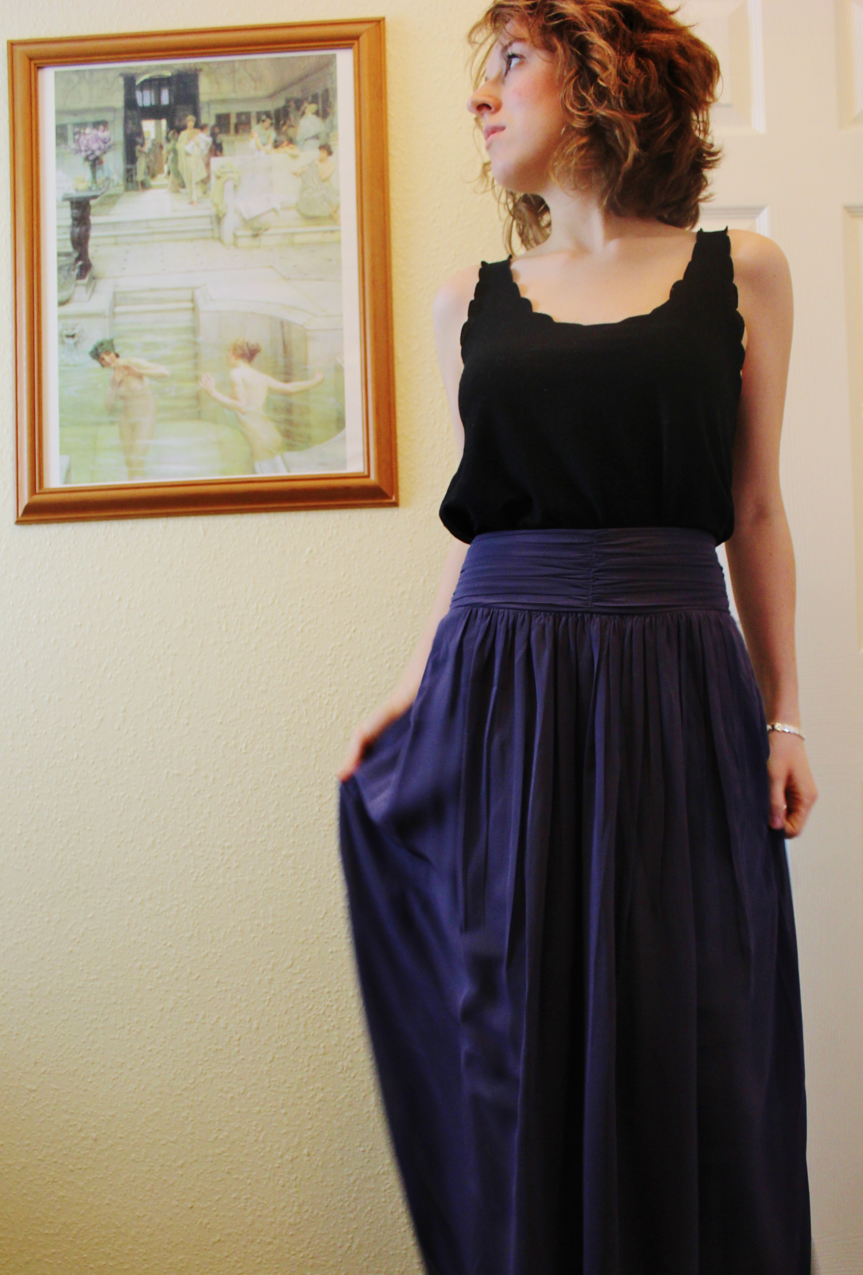 Leather jacket hoi an - My Full Length Skirt From Hoi An Silky On The Inside Chiffon On The Outside A Perfect Fit