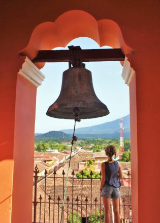 The bell tower in Granada