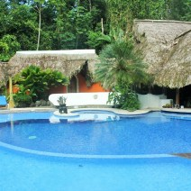 Pool side at Cariblue