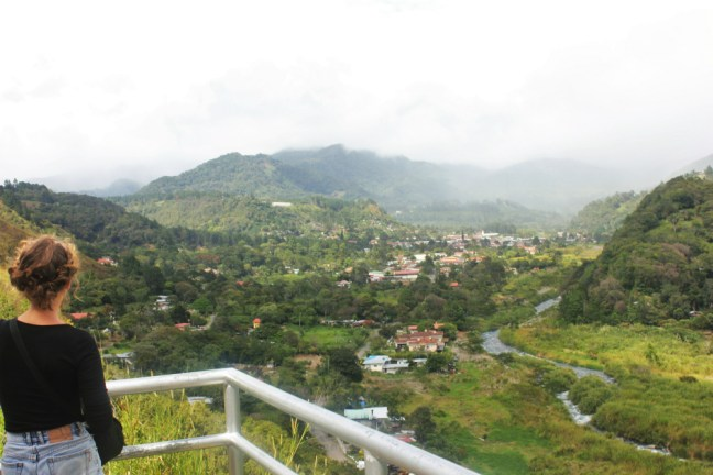 Charlie overlooking Boquete town small