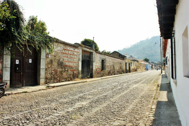 White out street in Antigua Guatemala - charlie on travel