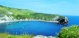 Lulworth Cove England from above