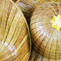 Hats made from palm leaves