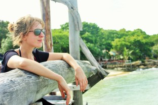 Gazing out over the sea with my Maui Jim sunglasses