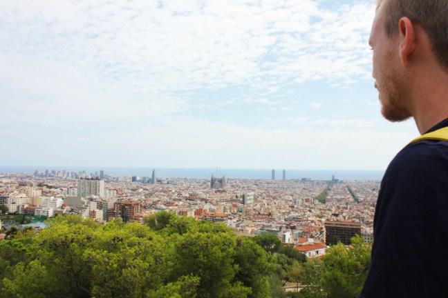 Luke overlooking Barcelona