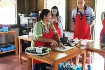 Thai cooking class demonstration
