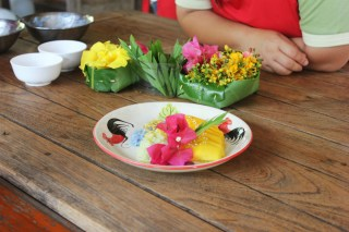 Mango sticky rice at Thai Farm Cooking Class