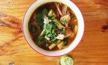 Tom Yum soup at Thai Farm Cooking Class