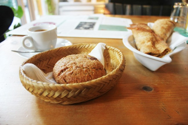 Vegan banitsa and cookie at Sunmoon Bakery Sofia Bulgaria - Charlie on Travel