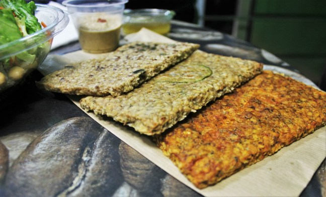 Vegan crackers in Vitafix Plovdiv Bulgaria - Charlie on Travel