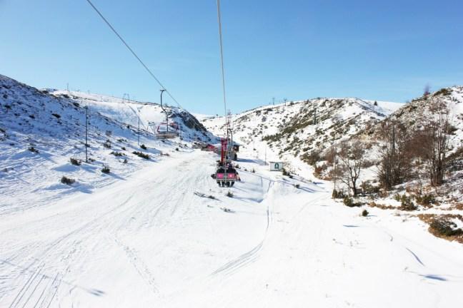 Chairlift skiing in Mavrovo Macedonia - Charlie on Travel