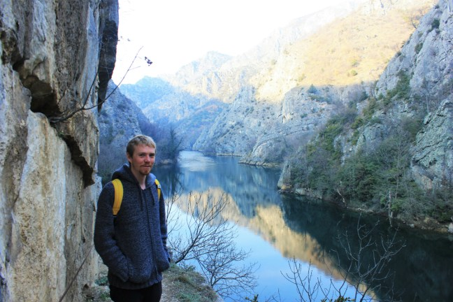 Luke smiles in Matka canyon Macedonia - Charlie on Travel small