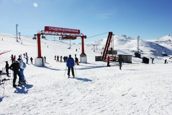 Start of skiing in Mavrovo Macedonia - Charlie on Travel