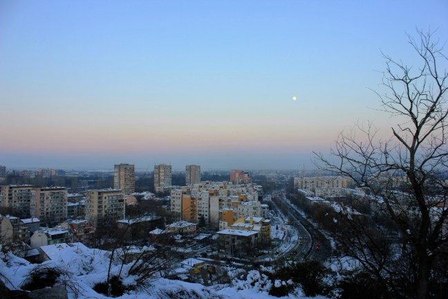 Sunset coming Plovdiv Bulgaria - Charlie on Travel
