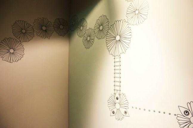 25hours Bikini Berlin Review - wall art flowers - Charlie on Travel