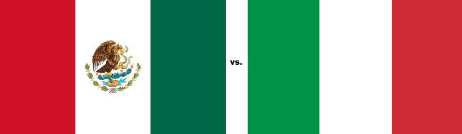 Mexican flag vs Italian flag