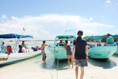 Out on the boats in Isla Holbox