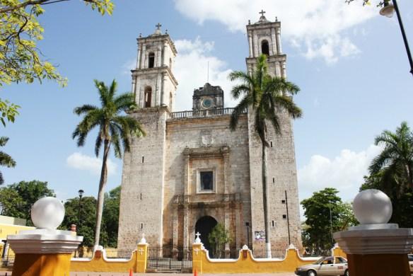 Catedral de San Gervasio Valladolid Mexico - Charlie on Travel