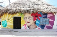 Old woman face mural - Isla Holbox Mexico - Charlie on Travel