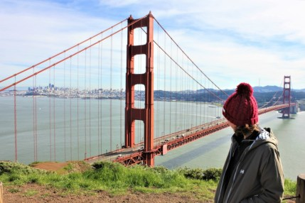 San Francisco City Guide Charlie at Golden Gate Bridge