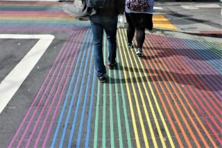 Rainbow zebra crossing