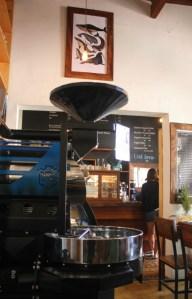 Coffee grinder in Big Sur Cafe Organico La Paz Mexico