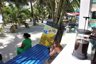 Ice and beans coffee Caye Caulker 2