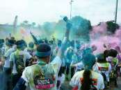 """Awesome photo taken by Carol at the """"Colour Party"""" at the finish"""