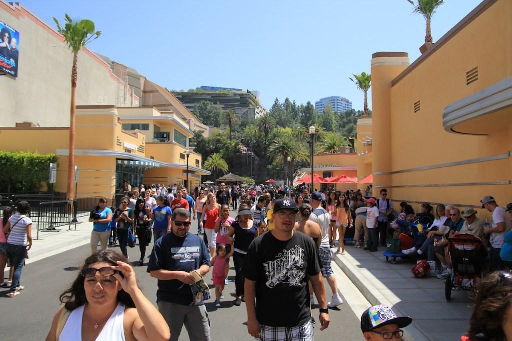inside Universal Studios park