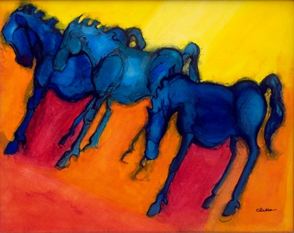 """Tres Blue, Oil, 18"""" x 24"""", Sold"""